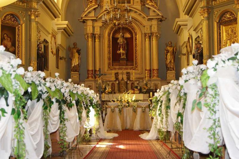 Dekoracja Kościoła Na ślub Wesele Dębica